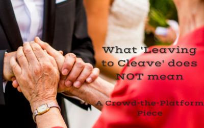 What 'leaving to cleave' does not mean